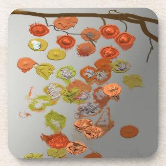 Hojas - diseño del extracto de las hojas de otoño posavasos