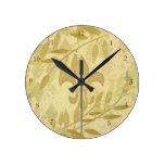 Hojas elegantes lamentables de Chevron del oro del Reloj