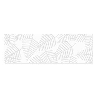 Hojas en colores pastel del gris tarjetas de visita mini