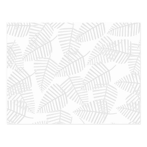 Hojas en colores pastel del gris tarjetas postales