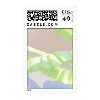 Hojas en colores pastel del verde sellos