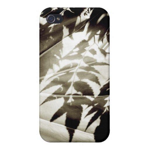 Hojas en extremo de la sombra iPhone 4 coberturas