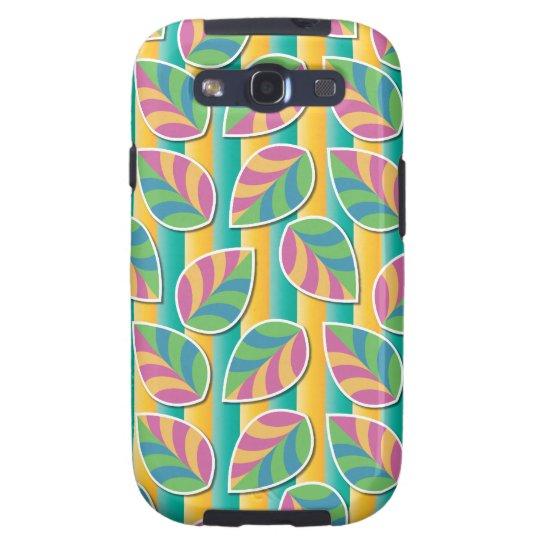 Hojas en la caja verde de la galaxia S3 de Samsung Carcasa Para Samsung Galaxy S3