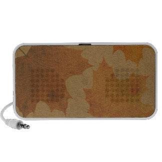 Hojas en lona iPod altavoz