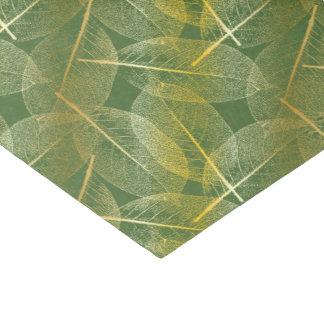 Hojas en verde - papel seda del oro