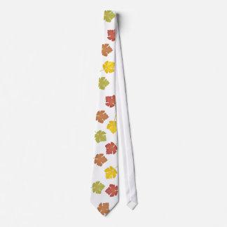 Hojas felices de la caída corbata personalizada