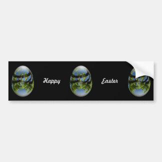 hojas felices de los jóvenes del huevo de Pascua Pegatina Para Auto