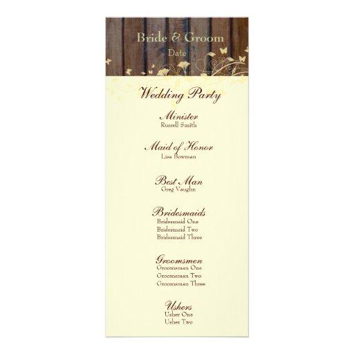 Hojas florales poner crema de madera oscuras que c tarjeta publicitaria personalizada