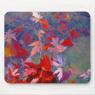 Hojas flotantes del otoño tapetes de raton