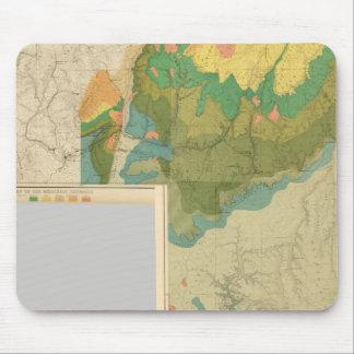 Hojas geológicas del mapa alfombrillas de ratones