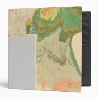 """Hojas geológicas del mapa carpeta 1 1/2"""""""