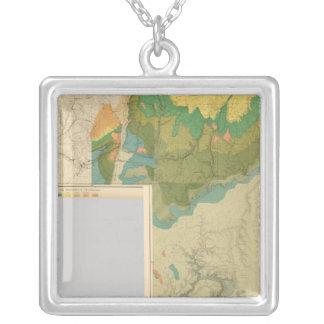 Hojas geológicas del mapa colgante cuadrado