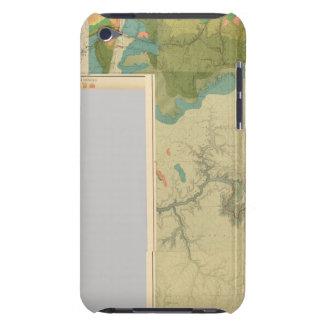 Hojas geológicas del mapa funda para iPod