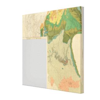 Hojas geológicas del mapa impresión en lienzo estirada