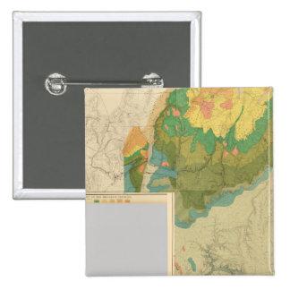 Hojas geológicas del mapa pin cuadrado