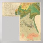 Hojas geológicas del mapa posters
