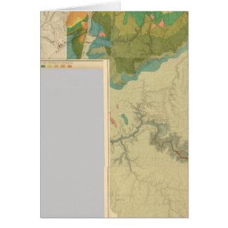 Hojas geológicas del mapa tarjeta de felicitación