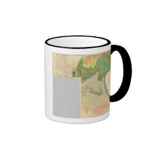Hojas geológicas del mapa taza de dos colores