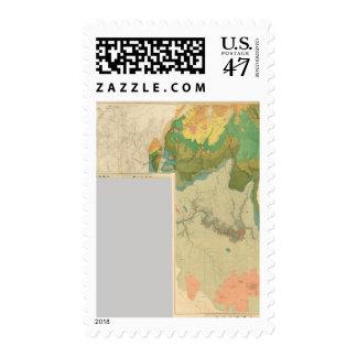 Hojas geológicas del mapa timbre postal