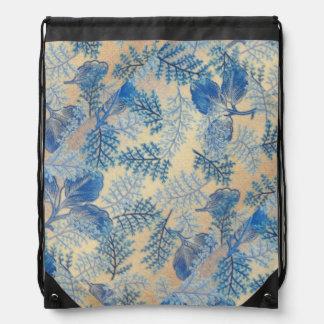 Hojas hermosas del azul mochilas