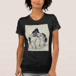 Hojas ilustradas modernas con el sobre ilustrado camiseta
