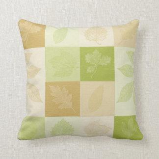 Hojas inspiradas almohadas