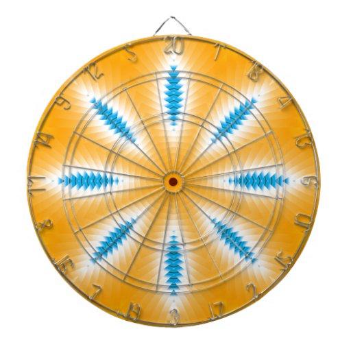 Hojas magnéticas de la secuencia del Azul-Amarillo Tablero De Dardos