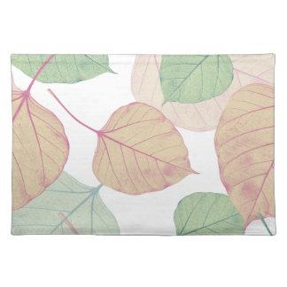 hojas mantel individual