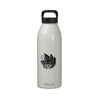 hojas Mariposa-formadas del ginkgo Botellas De Agua Reutilizables