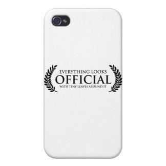 Hojas minúsculas oficiales iPhone 4 carcasas
