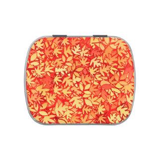 Hojas naranja y oro de otoño