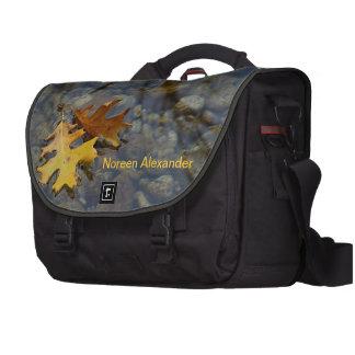 Hojas personalizadas que flotan en bolso del orden bolsas para portátil