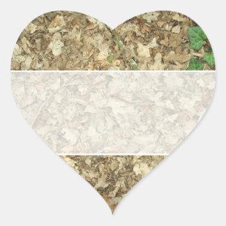 Hojas Piso del arbolado Tierra frondosa Pegatina De Corazón
