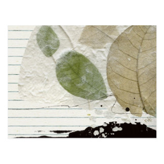 hojas postal