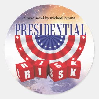 Hojas presidenciales del pegatina del riesgo
