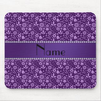 Hojas púrpuras conocidas personalizadas de las flo alfombrilla de ratones