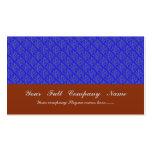 Hojas púrpuras de moda en fondo azul retro tarjeta de visita