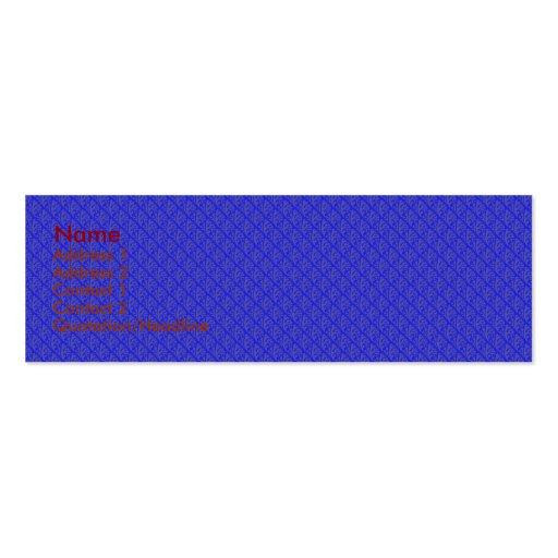 Hojas púrpuras de moda en fondo azul retro tarjetas de visita