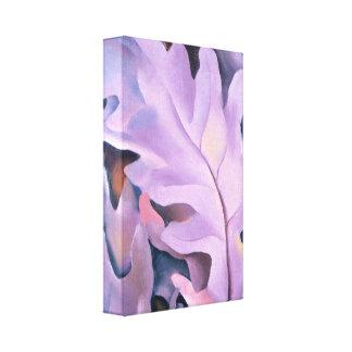 Hojas púrpuras lienzo envuelto para galerias
