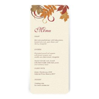 Hojas que caen del otoño de la tarjeta el del me comunicado