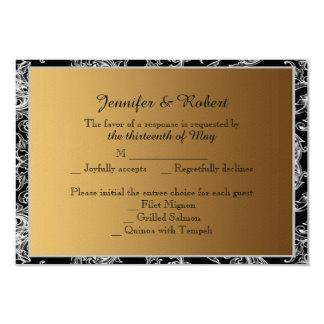 Hojas que caen en tarjeta de la respuesta del boda invitación 8,9 x 12,7 cm