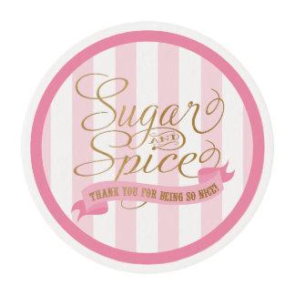 Hojas que hielan comestibles del azúcar y de la papel de azúcar redondo