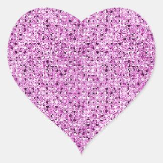 Hojas rosadas del pegatina del corazón del efecto