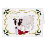 Hojas santas del navidad de Jack Russell Terrier Felicitación