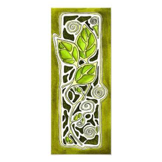 Hojas talladas mano en verde fotografías