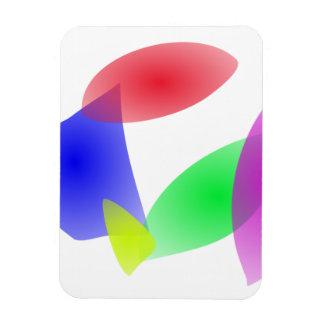 Hojas translúcidas coloridas del extracto imanes rectangulares