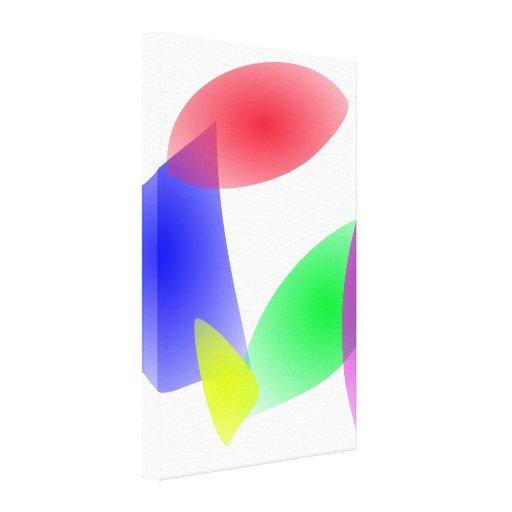 Hojas translúcidas coloridas del extracto impresion de lienzo