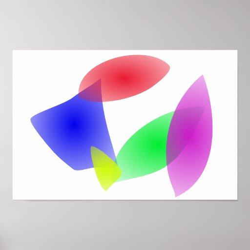 Hojas translúcidas coloridas del extracto poster