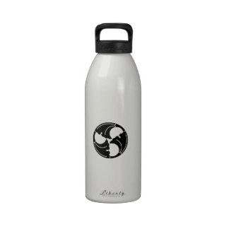 Hojas Trisected del ginkgo Botellas De Beber