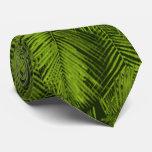 Hojas tropicales hawaianas de las palmas de Makana Corbatas Personalizadas